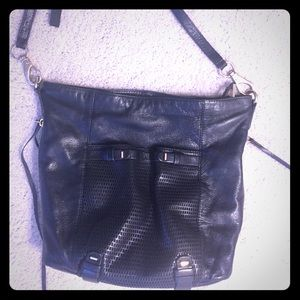 Handbags - She+Lo Black leather shoulder bag.
